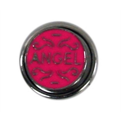 Button Roze Met Tekst Angel Diam 1.5cm