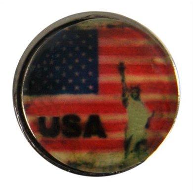 Button Met Vrijheidsbeeld Usa Diam 1.5cm