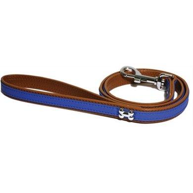 Wag n Walk Looplijn Puppy/kleine Hond Blauw Stud 100x1cm