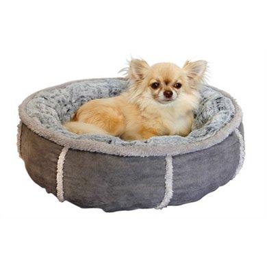 Hondenmand Pluche Donut Grijs 50cm