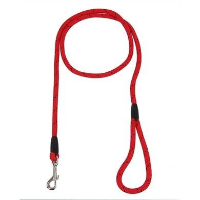 Rosewood Hondenriem Touw Rood/Zwart 162cm