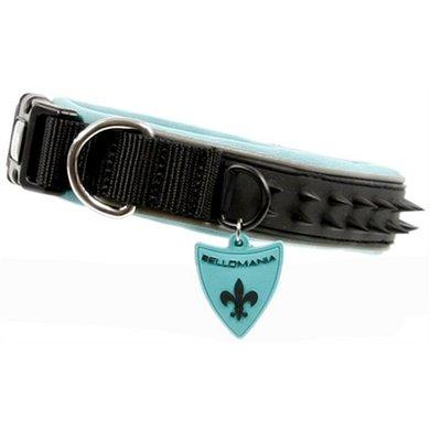 Bellomania Halsband Spikes Jade Zwart/groen 40-45x3.5cm