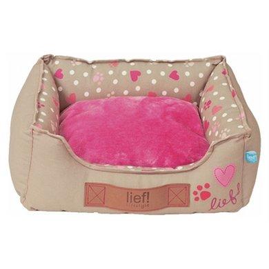 Lief! Kattenmand Girls Beige/roze 40x30cm