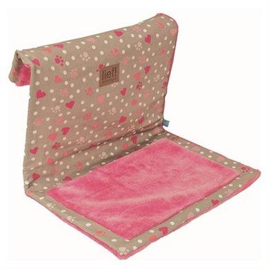 Lief! Kattenhangmat Girls Beige/roze 45x34x34cm