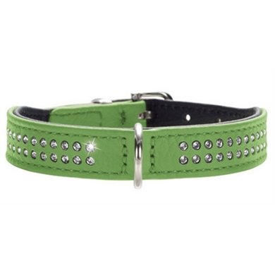 Hunter Halsband Diamond Petit Nappaleer Groen/zwart 27x1.6cm