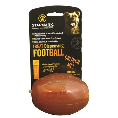 Starmark Treat Dispensing Football Medium 9x6x6cm