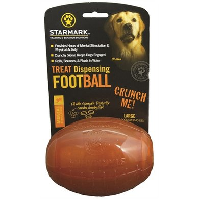 Starmark Treat Dispensing Football Large 11x8x8cm