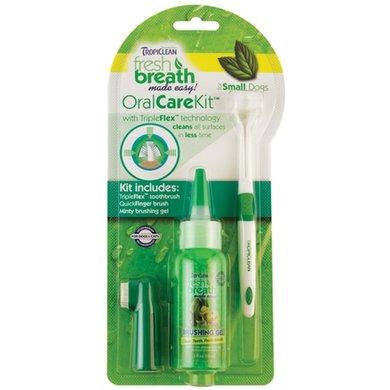 Tropiclean Fresh Breath Oral Care Kit Kleine Hond 59ml