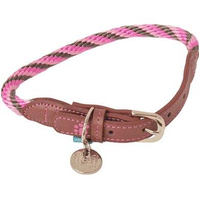 Lief! Halsband Girls Beige/Roze 50x1cm