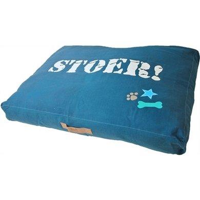 Lief! Hondenkussen Lounge Stoer Blauw 100x70cm