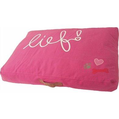 Lief! Ligkussen Lounge Lief Girls Roze 85x60cm