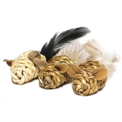 Jolly Moggy Natural Wild Speelmuis Mini Catnip 3 St 15cm