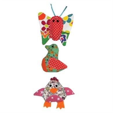 Jolly Moggy Patchwork Trio Vlinder/Vogel/Kip 7cm
