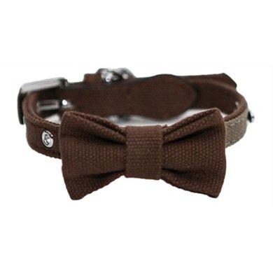 Wag n Walk Halsband Hond Strik Truffel/Taupe 20-31cm