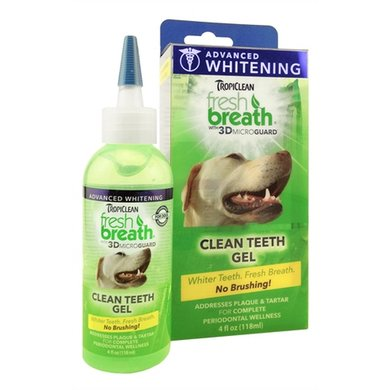Tropiclean Fresh Breath Advanced Whitening Kit 118ml