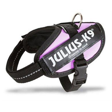 Julius K9 Power-harnas/tuig Labels Roze Mini Mini/40-53cm