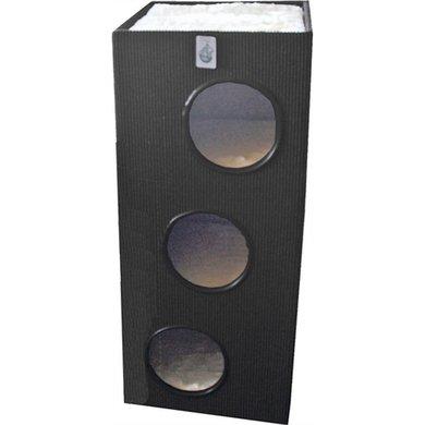 Klimmeubel Vierkant 3 Gaats Zwart/Wit 100cm