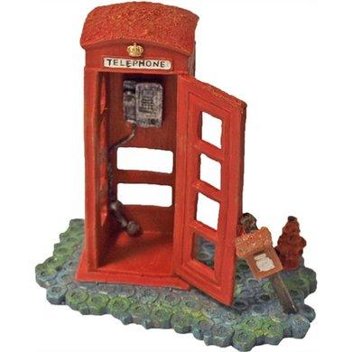 Decoratie Telefooncel Rood 16x11cm
