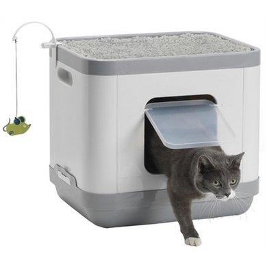 Moderna Kattenbak/Kattenmand Grijs