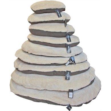 Ligkussen Met Rits Sheep Bruin/Beige 110cm