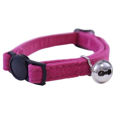 Out & About Kattenhalsband Supersoft Roze 1x30x2cm