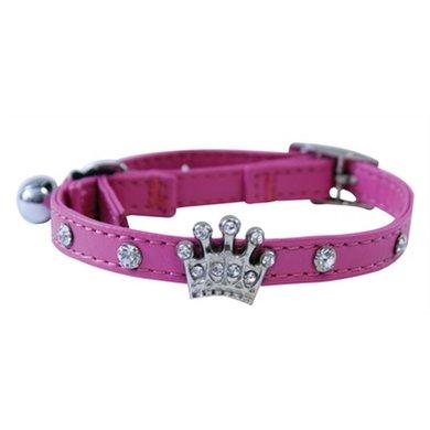 Feline Finesse Kattenhalsband Diamant Kroon Roze 30x2.5x1cm