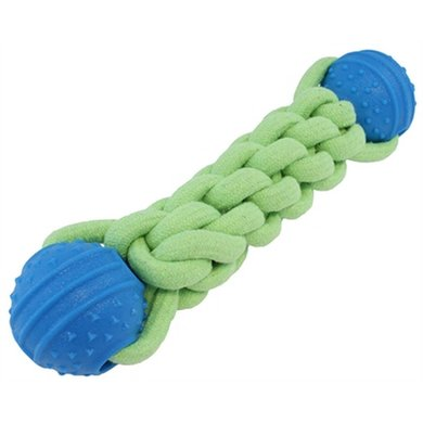 Out & About Twist N Fetch Halter Groen/Blauw 35.5x9x7.5cm