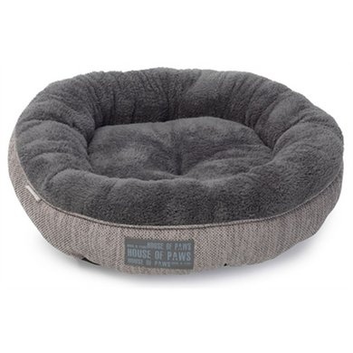 House Of Paws Kattenmand Donut Hessian Grijs 51cm
