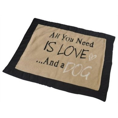 House Of Paws Hondendeken All You Need Is Love Beige 120x100