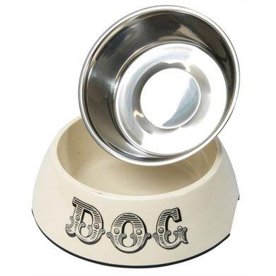 House Of Paws Voerbak Hond Dog Creme 22x7.5cm