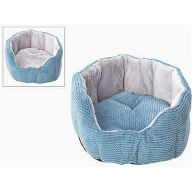 House Of Paws Hondenmand Ovaal Twist Cord Blauw 60x60x28cm