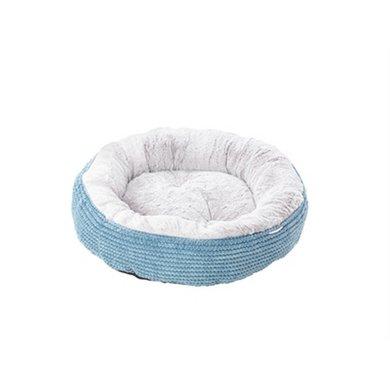 House Of Paws Kattenmand Donut Twist Cord Blauw 50x50x16cm