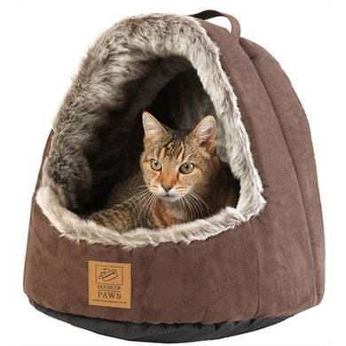 House Of Paws Kattenmand Iglo Arc Fox Suedi Bruin 38x38x40cm