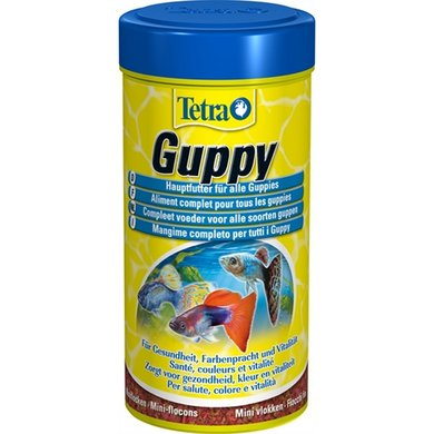 Tetra fish food flakes guppy 250ml for Guppy fish food