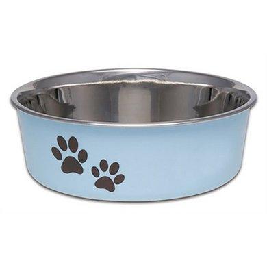 Loving Pets Voer/drinkbak Bella Murano Blauw 470ml 14x14x4cm