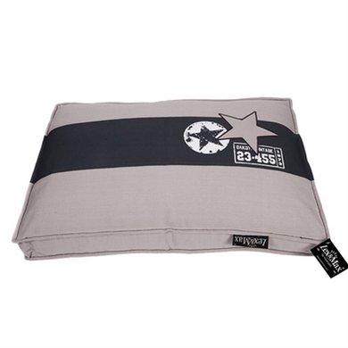 Lex&max Hondenkussen Boxbed Band Ster Kiezel 75x50x9cm