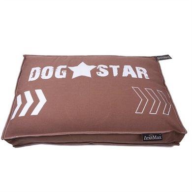 Lex&max Hondenkussen Boxbed Dogstar Taupe 90x65x9cm