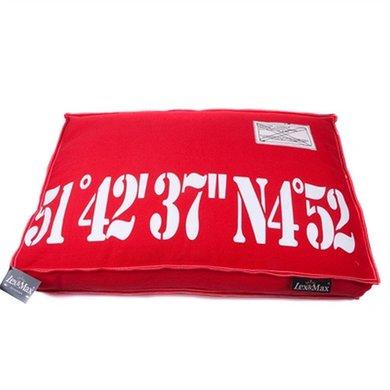 Lex&max Hoes Voor Hondenkussen Boxbed 51-42 Rood 90x65x9cm