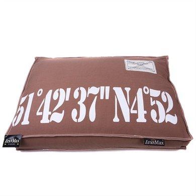 Lex&max Hoes Voor Hondenkussen Boxbed 51-42 Taupe 90x65x9cm