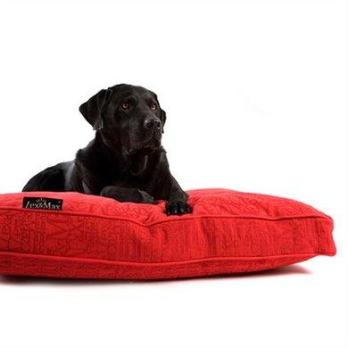 Lex&max Hoes Voor Hondenkussen Boxbed Chic Rood 90x65x9cm