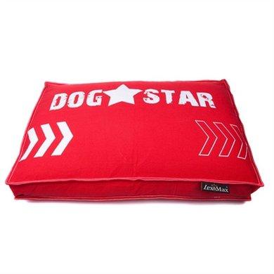 Lex&max Hoes Hondenkussen Boxbed Dogstar Rood 90x65x9cm