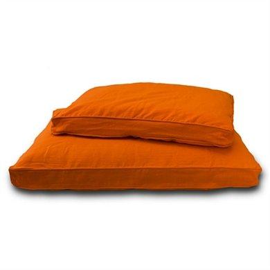 Lex&max Hoes Hondenkussen Boxbed Pro Oranje 90x65x9cm
