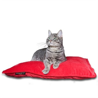 Lex&max Hoes Voor Kattenkussen Emma Rood 60x45cm