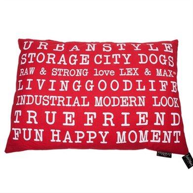 Lex&max Hoes Voor Hondenkussen Urban Dog Rood 100x70cm