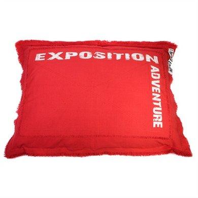 Lex&max Hoes Voor Hondenkussen Adventure Rood 100x70cm