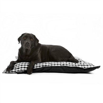 Lex&max Hoes Voor Hondenkussen Carlos Zwart 100x70cm