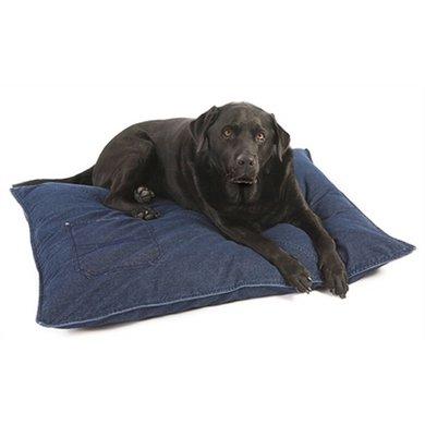Lex&max Hoes Voor Hondenkussen Denim Blauw 100x70cm