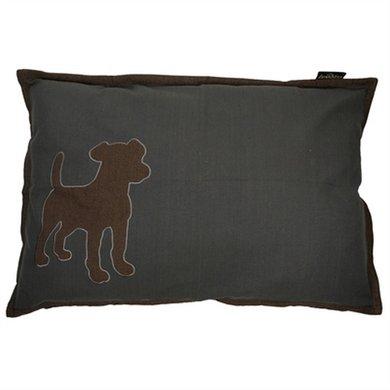 Lex&max Hoes Voor Hondenkussen Dog Antraciet 100x70cm