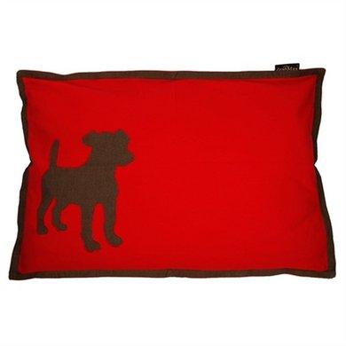 Lex&max Hoes Voor Hondenkussen Dog Rood 100x70cm