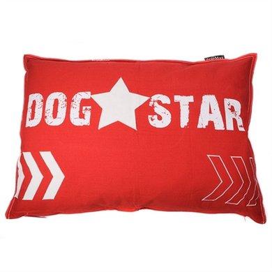 Lex&max Hoes Voor Hondenkussen Dog Star Rood 100x70cm